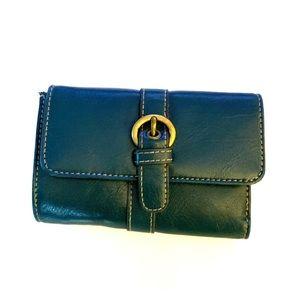 Handbags - Teal Leather Wallet